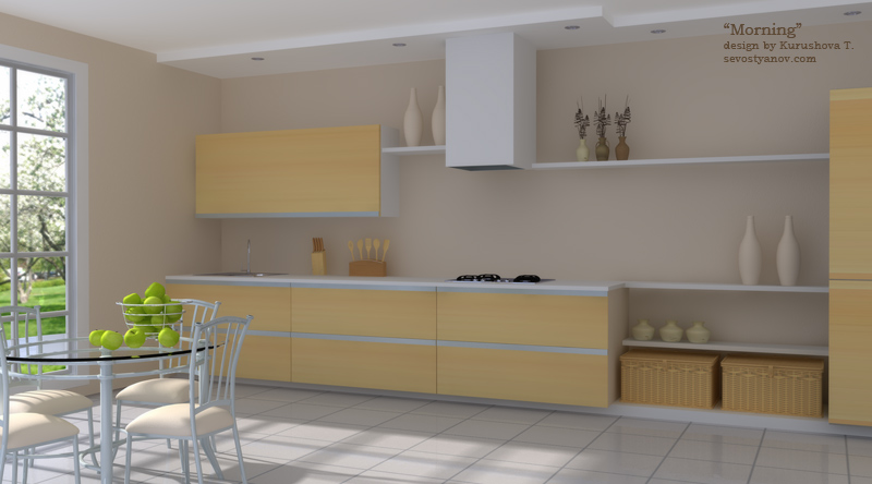 Sevostyanov design studio 3d graphic multimedia design kitchen interior visualization Interior design visualization