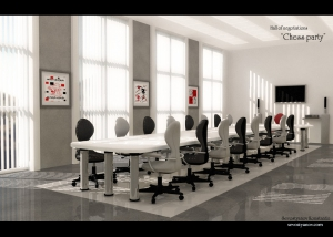 Negotiation Hall 3d Interior