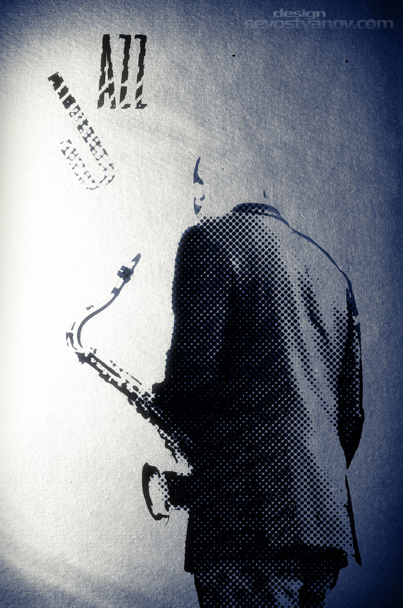 Jazz Fest Illustration Saxophonist
