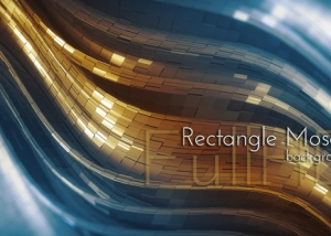 Rectangle Mosaic 3d Background
