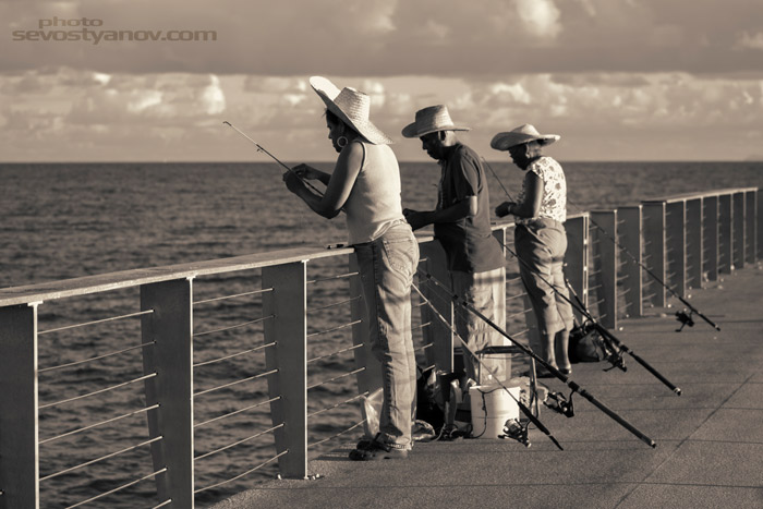 Fishing on Pier