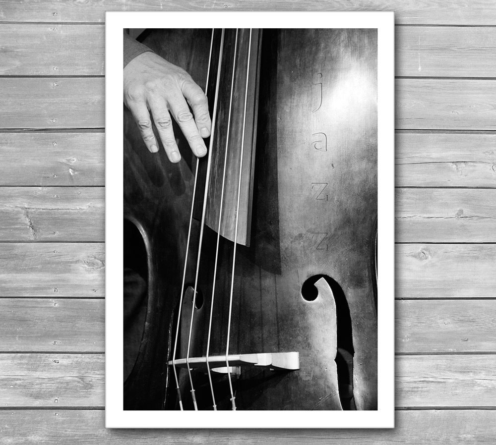 Jazz Bass Photo Poster