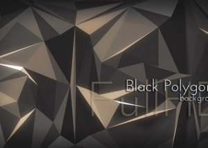 Dark Polygonal VJ Animation
