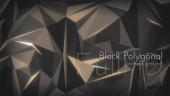 Dark Polygonal VJ Animation