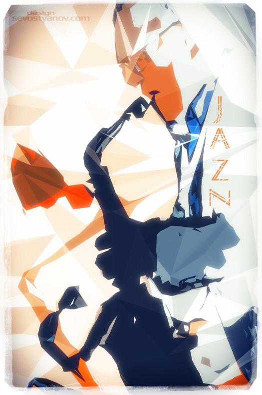 Jazz Sax Poster