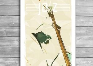 Contrabassist, Jazz Poster