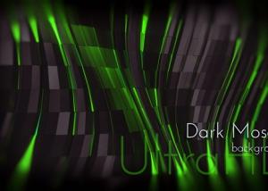 Dark Mosaic Fluorescent Background