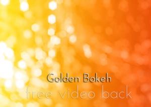 Golden Bokeh Video Free Backgound