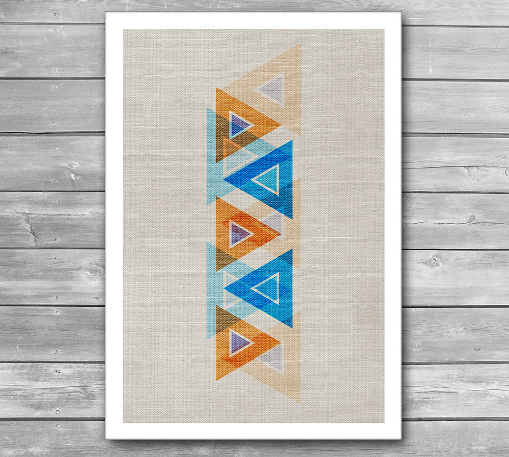 Abstract Triangles Design Print