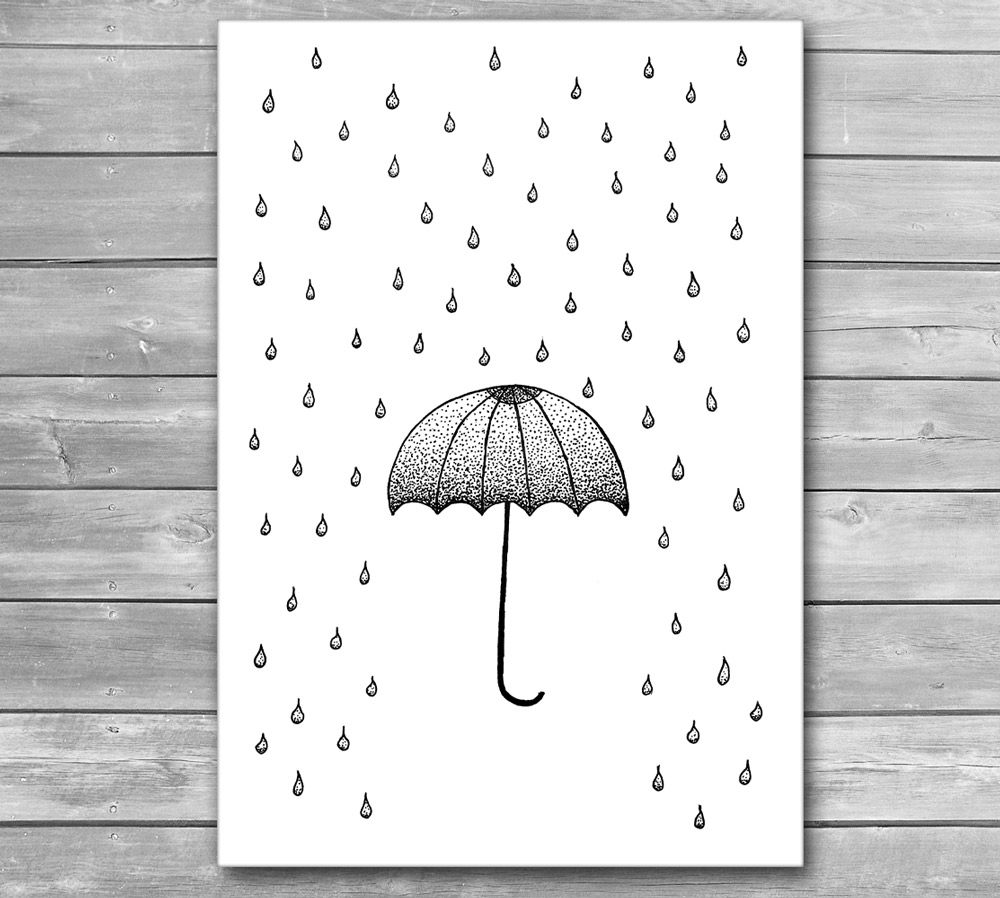 In the Rain Design Poster