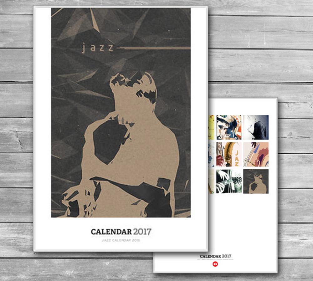 Wall Jazz Calendar 2017