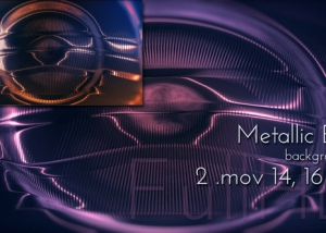 Motion Fantasy Metallic Eye Background