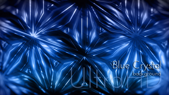 Cold Blue Crystal Christmas Animatoin