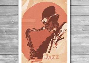 Jazz Sax Vintage Poster