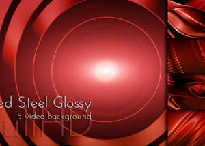 Red Glossy Steel Surface