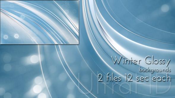 Winter Glossy UltraHD Background