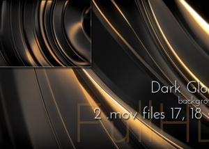 Dark Glossy Metal Background