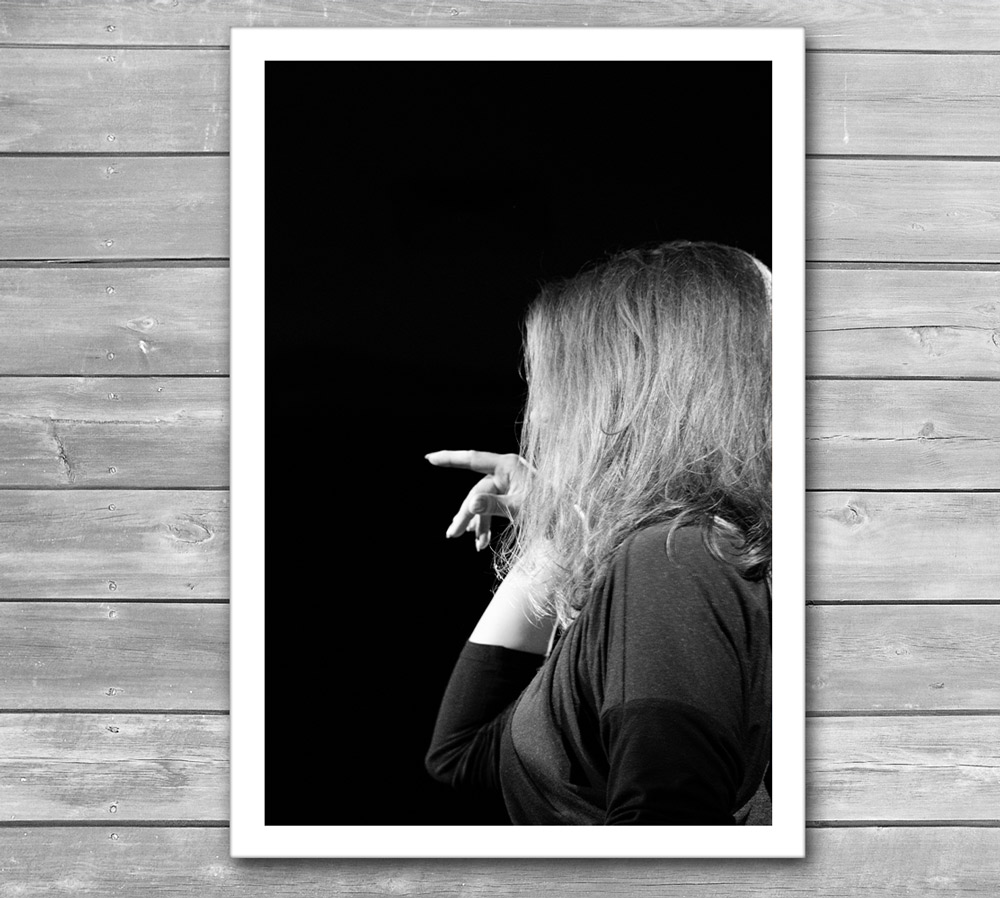 Woman in Jazz Photo Poster