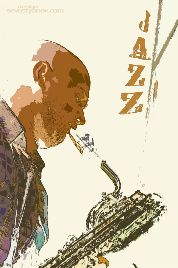 Saxophonist Jazz Poster