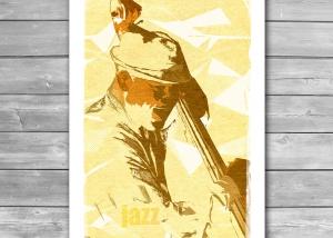 Jazz Contrabassist Poster