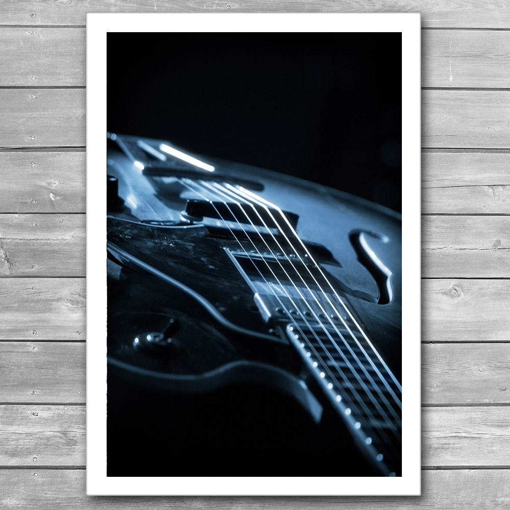 Guitar Light Poster
