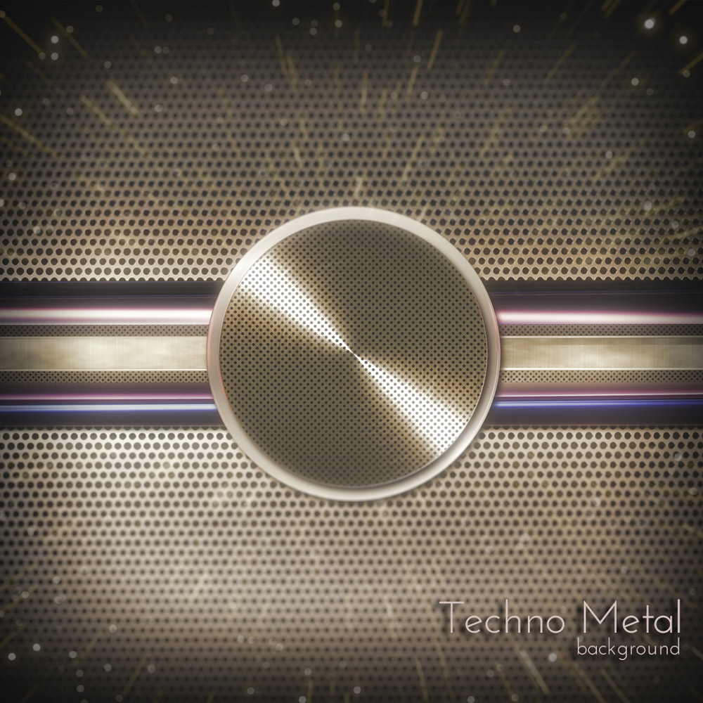 Techno Metal Background