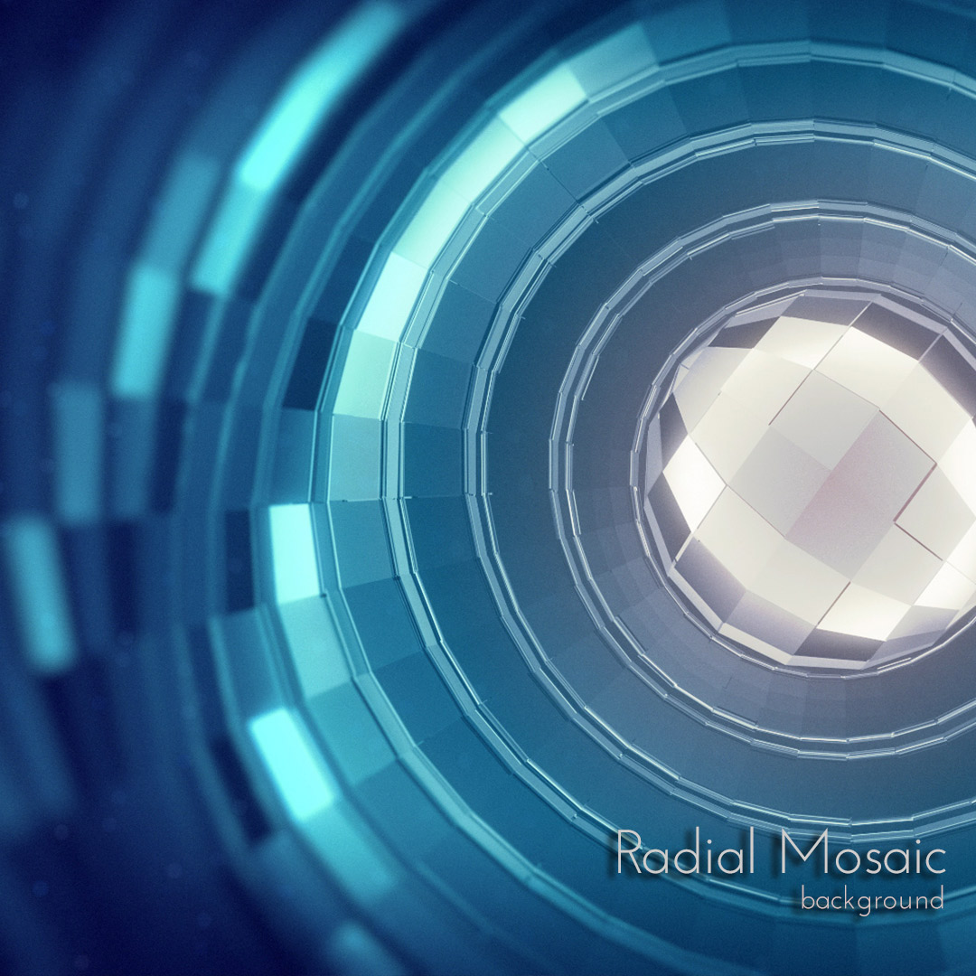 Radial Mosaic Background