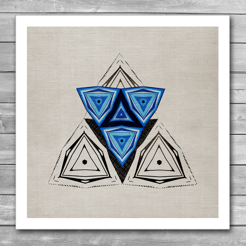 Blue Triangle Art Print