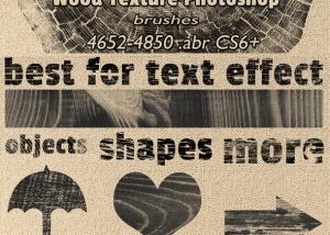 Wood Textures Photoshop Brushes