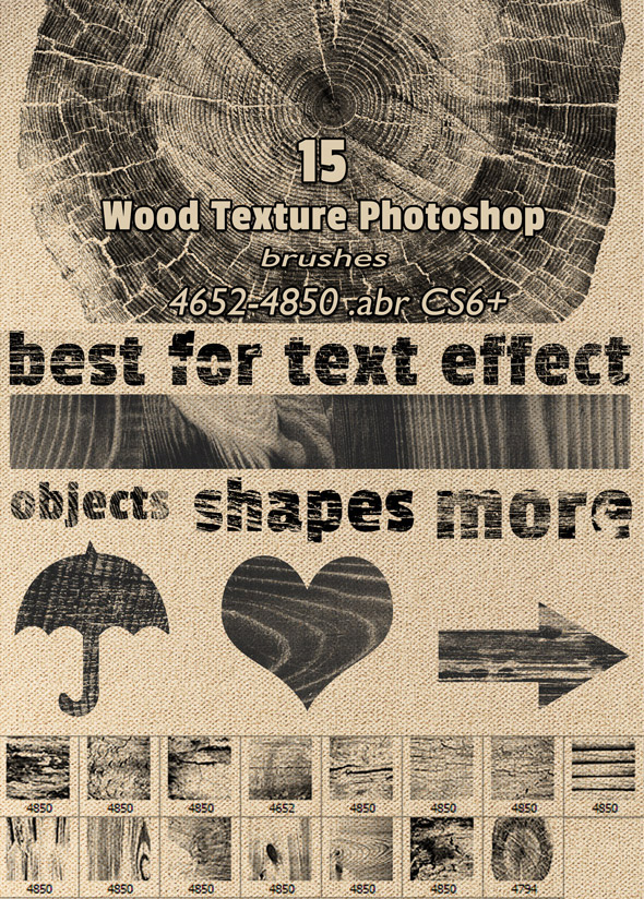 Wood Textures Photoshop Brushes