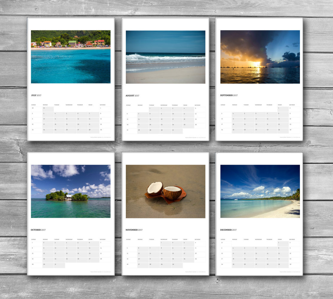 Tropical Photo Calendar