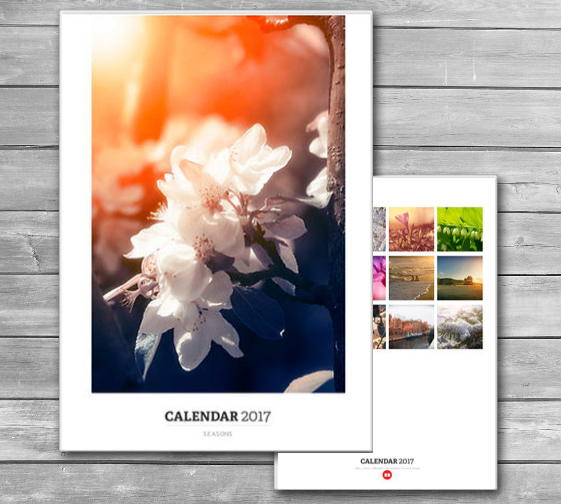 Four Seasons Monthly Calendar 2017