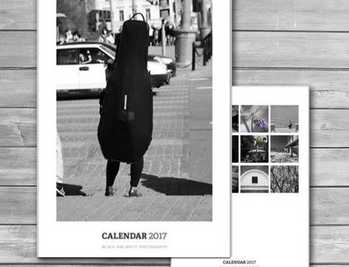 Black and White Calendar 2017