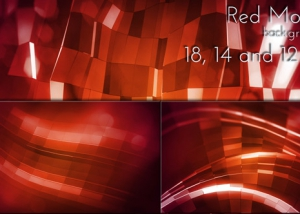 Red Mosaic Holiday Background