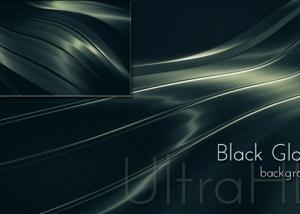Black Glossy Metal Background