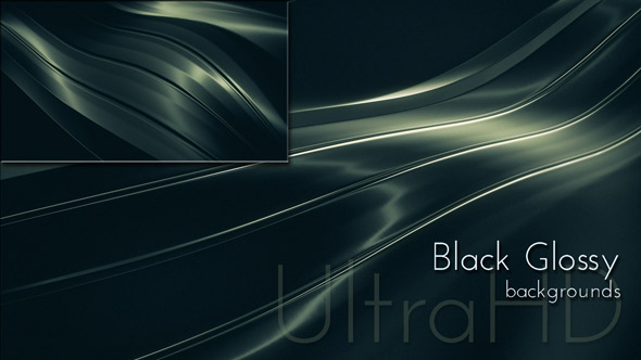 Black Glossy Metal Background