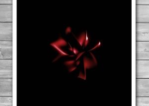 Dark Flower Print