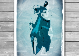 Jazzy Art Poster