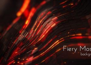 Dark Fiery Mosaic